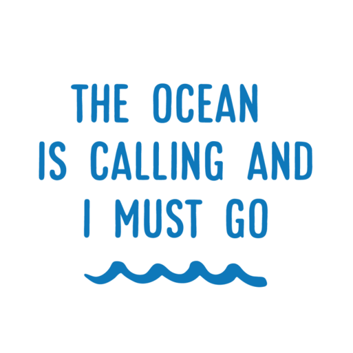 The Ocean is Calling Decal