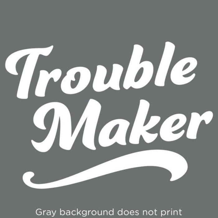 Trouble Maker Decal