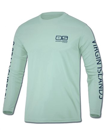 Ocean Surfari OS SPF 50+ Performance Youth LS Seafoam