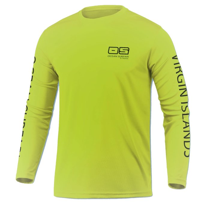 OS SPF 50+ Performance Youth LS Neon Yellow