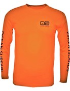Ocean Surfari OS SPF 50+ Performance Men's LS Safety Orange