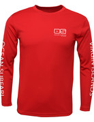 Ocean Surfari OS SPF 50+ Performance Men's LS Red