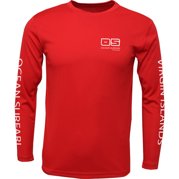 OS SPF 50+ Performance Men's LS Red