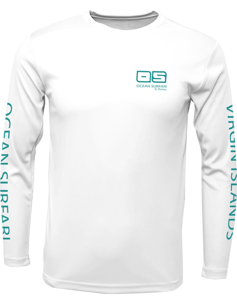 Ocean Surfari OS SPF 50+ Performance Men's LS White