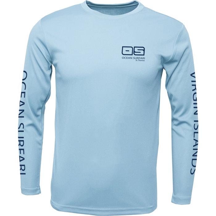 OS SPF 50+ Performance Men's LS Ice Blue