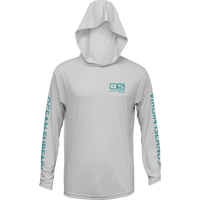 OS SPF 50+ Performance Men's Hoodie Pearl Grey