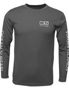 Ocean Surfari OS SPF 50+ Performance Men's LS Charcoal