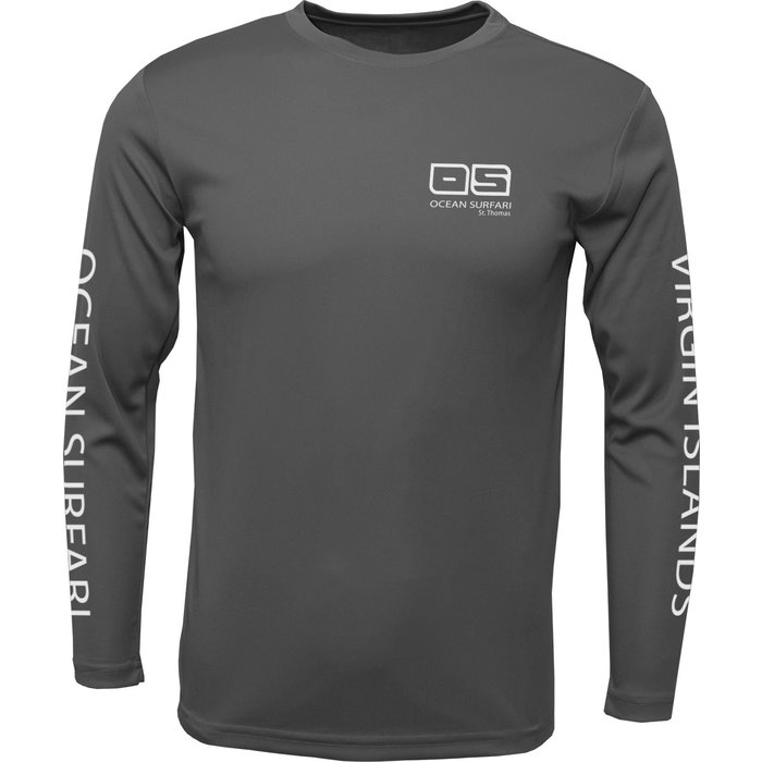 OS SPF 50+ Performance Men's LS Charcoal