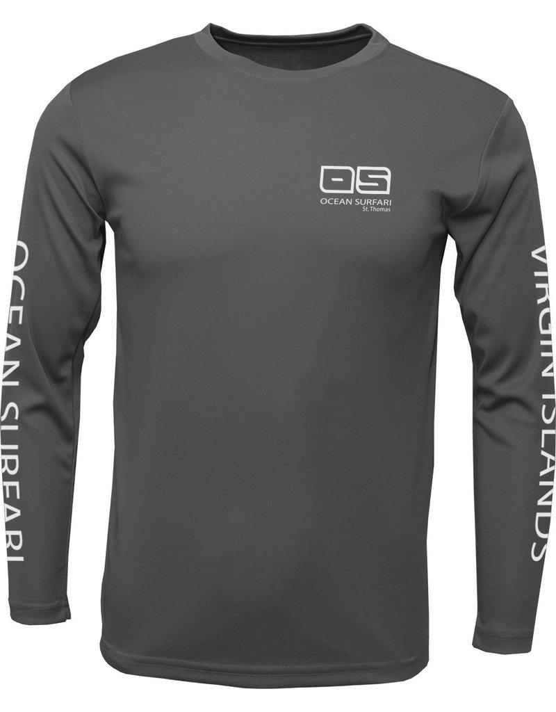 Ocean Surfari OS SPF 50+ Performance Men's LS Charcoal