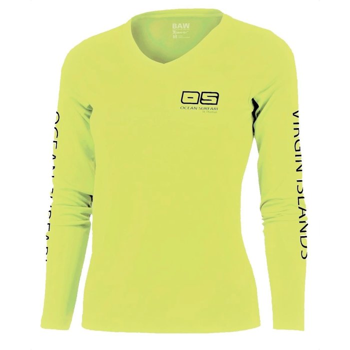 OS SPF 50+ Performance Ladies LS Safety Yellow
