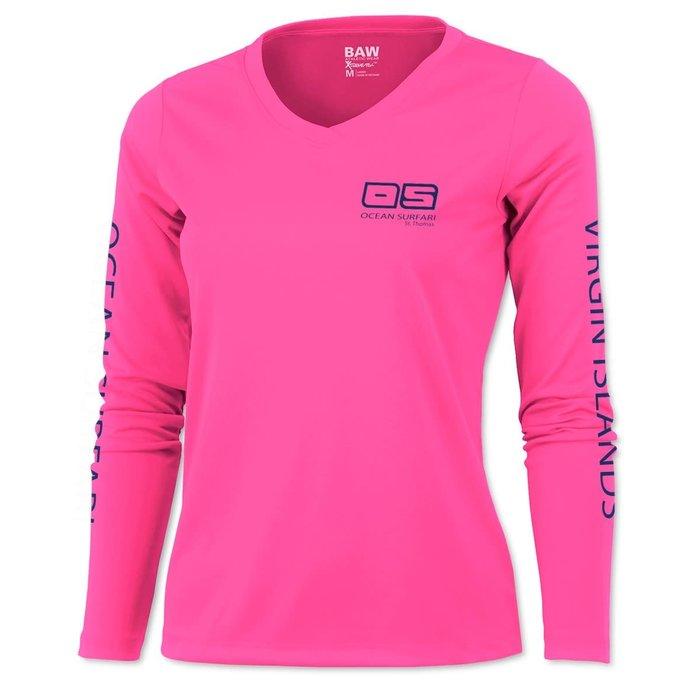 BAW XT97 Ladies Long Sleeve Neon Pink