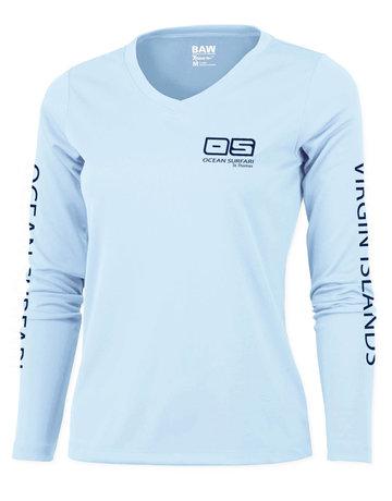 Ocean Surfari OS SPF 50+ Performance Lad LS Ice Blue