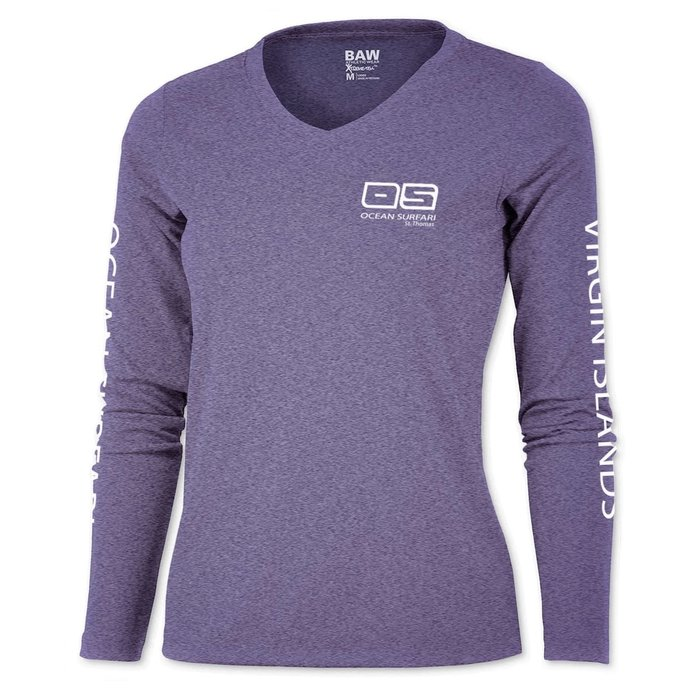 OS SPF 50+ Performance Lad LS Heather Purple