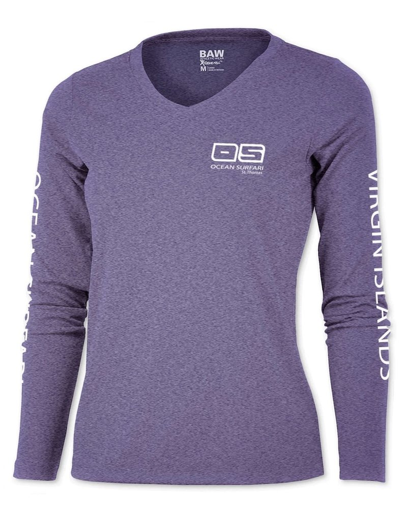 Ocean Surfari OS SPF 50+ Performance Lad LS Heather Purple