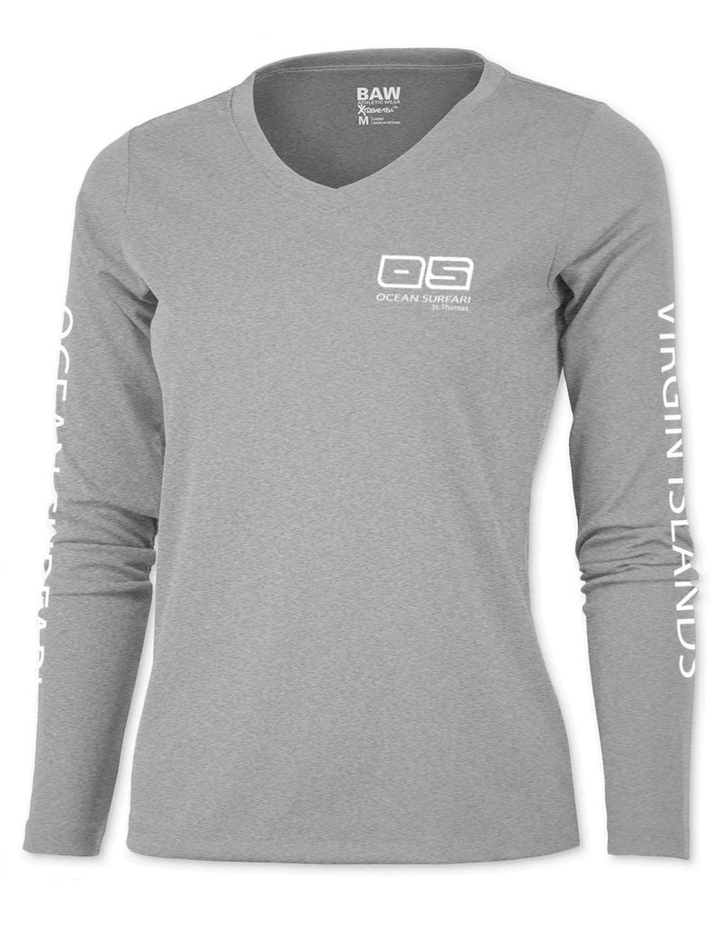 Ocean Surfari OS SPF 50+ Performance Lad LS Heather Grey