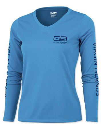 Ocean Surfari OS SPF 50+ Performance Lad LS Col Blue