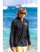 Ocean Surfari OS SPF 50+ Performance Men's LS 1/4 Zip Black