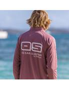 Ocean Surfari OS SPF 50+ Performance 1/4 Zip Men's LS   Heather Maroon