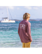 Ocean Surfari OS SPF 50+ Performance Men's LS 1/4 Zip Heather Maroon