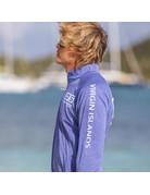 Ocean Surfari OS SPF 50+ Performance 1/4 Zip Men's LS Heather Royal