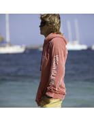 Ocean Surfari Burnout P/O Hoodie Coral