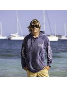 Ocean Surfari Burnout P/O Hoodie Navy