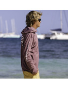 Ocean Surfari OS SPF 50+ Performance Men's Hoodie Heather Maroon