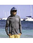 Ocean Surfari OS SPF 50+ Performance Men's Hoodie Heather Black
