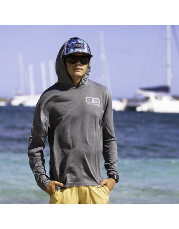 Ocean Surfari OS SPF 50+ Performance Men's Hoodie Heather Black
