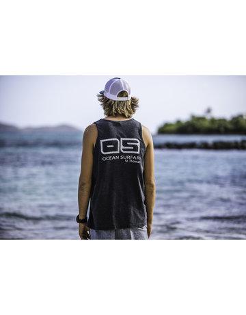 Ocean Surfari Men's Vintage Tank Black