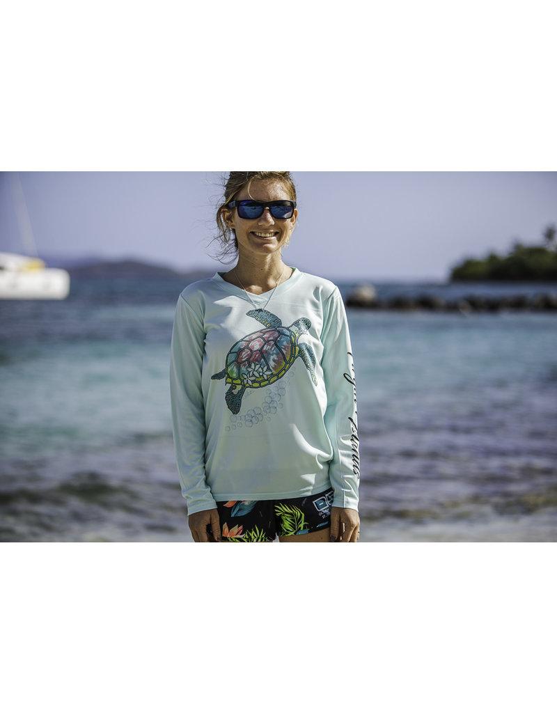 Ocean Surfari OS SPF 50+ Performance Lad LS Turtle Bliss Seafoam
