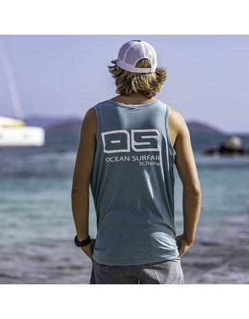 Ocean Surfari Men's Vintage Tank Aqua