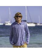Ocean Surfari OS SPF 50+ Performance Men's 1/4 Zip Space Royal