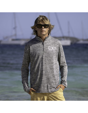 Ocean Surfari OS SPF 50+ Performance Men's 1/4 Zip Space Grey