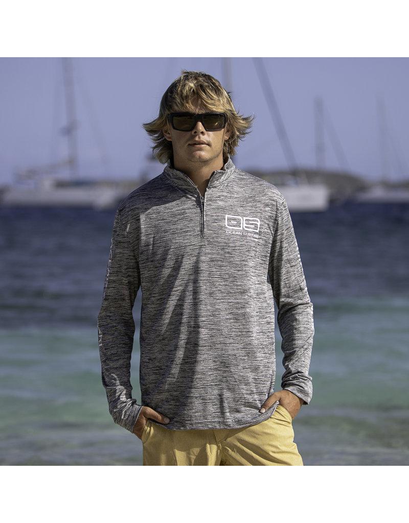 Ocean Surfari OS SPF 50+ Performance Men's 1/4 Zip Space Grey