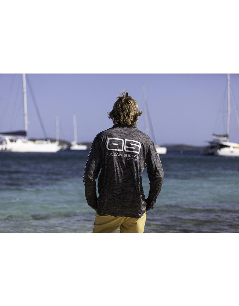 Ocean Surfari OS SPF 50+ Performance Men's 1/4 Zip Space Black