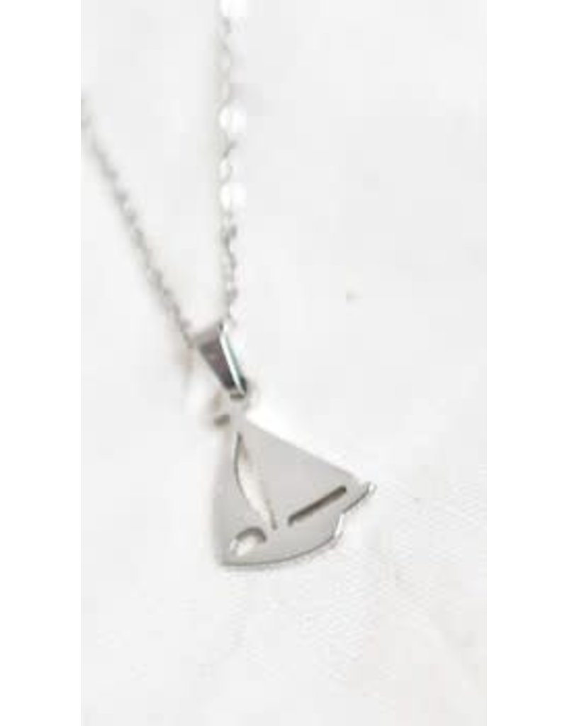 Sailboat Necklace Silver