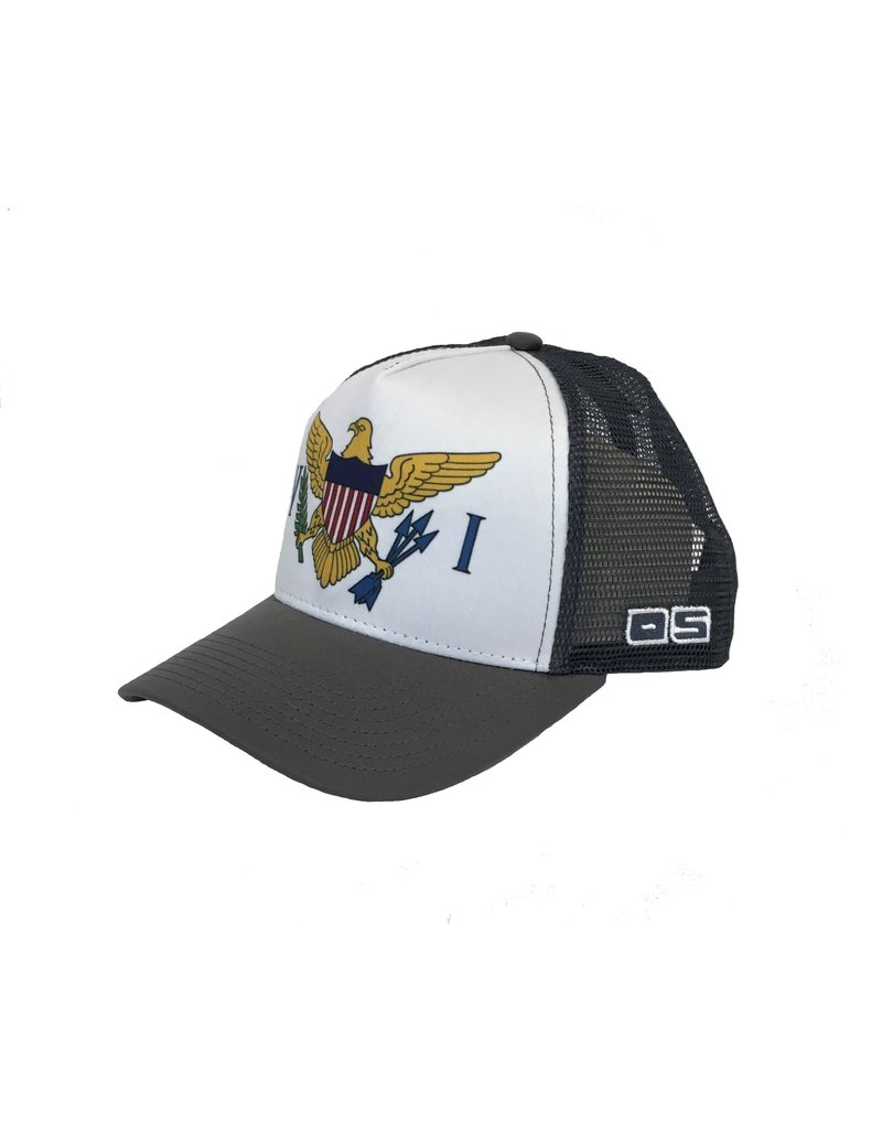 Ocean Surfari O/S Trucker Charcoal VI Flag