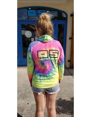 Ocean Surfari LS Cotton Hoodie Rainbow