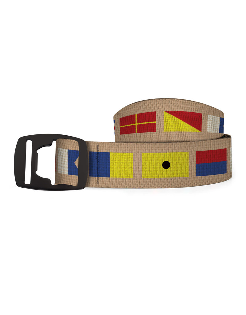 Croakie Belt Nautical Flag BK