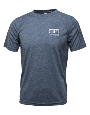 Ocean Surfari OS SPF 50+ Performance Men's SS Heather Navy