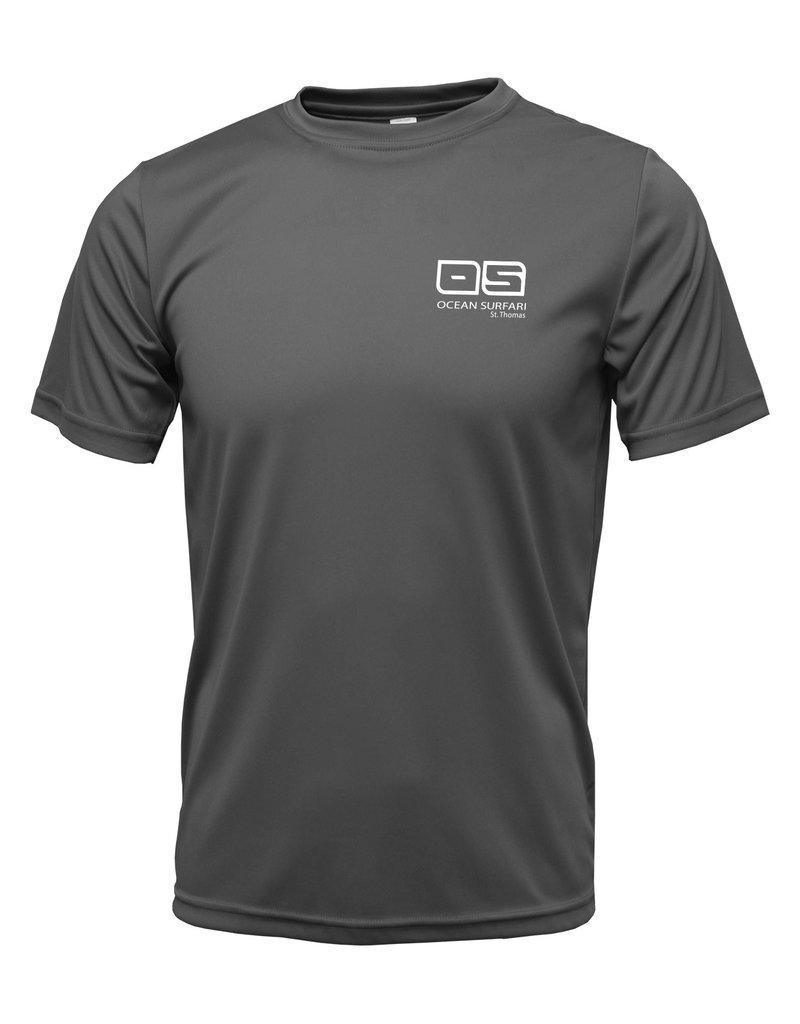 Ocean Surfari OS SPF 50+ Performance Men's SS Charcoal