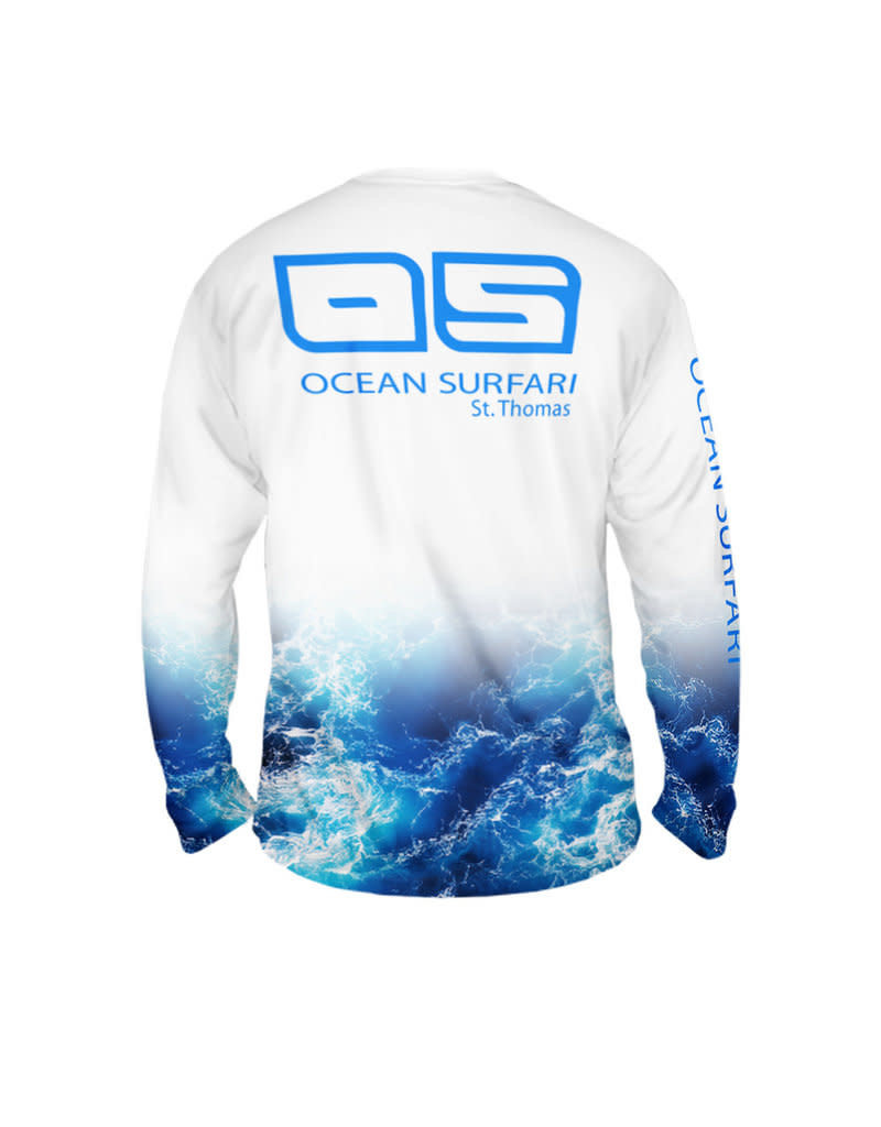 Ocean Surfari OS SPF 50+ Performance Men's LS Wave