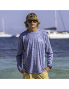 Ocean Surfari OS SPF 50+ Performance Men's LS Vent SP Royal