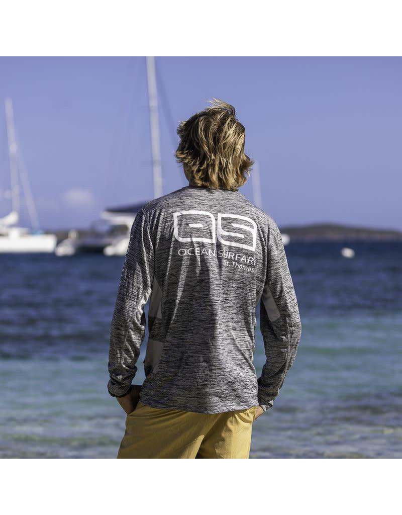 Ocean Surfari OS SPF 50+ Performance Men's LS Vent Space Grey