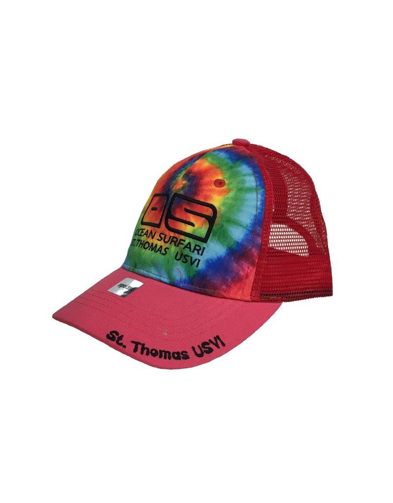 Ocean Surfari Kid's Cap Tie Dye