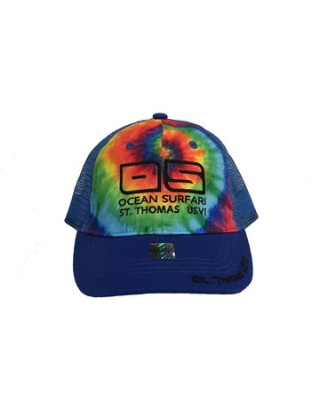 Ocean Surfari Kid's Cap Tie Dye