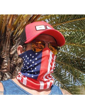 Ocean Surfari USA Flag Sun Shield Buff