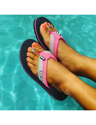 Ocean Surfari OS Ladies Flip Flops Fuschia