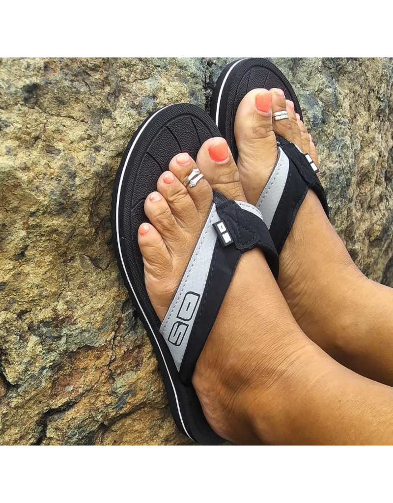 Ocean Surfari OS Ladies Flip Flops Black